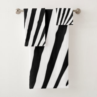 Poster de animal noir et blanc de zèbre