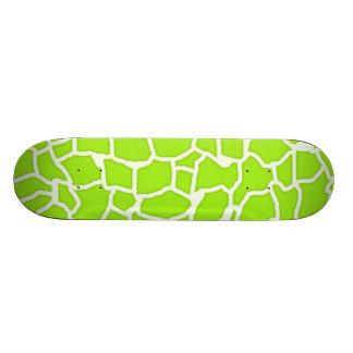 Poster de animal Vert-Jaune de girafe Planches À Roulettes Customisées