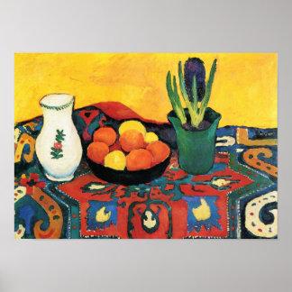 Poster De cru toujours tapis August Macke de jacinthe de