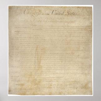 Poster Déclaration des droits pour les Etats-Unis