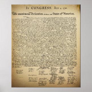 Poster Déclaration d'indépendance vintage
