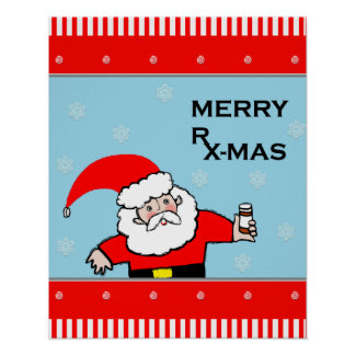 Poster décor de Noël de pharmacie