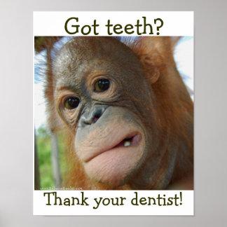 Poster Demande spéciale de gratitude drôle de dent