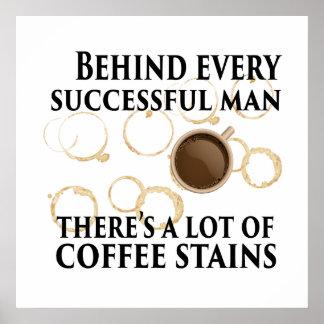Poster Derrière chaque homme réussi - affiche d'humour