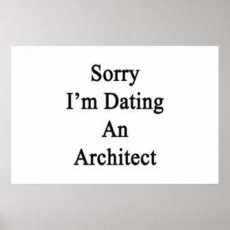 Poster Désolé je date un architecte