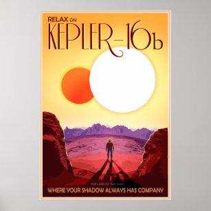 Poster Détendez sur Kepler-16b