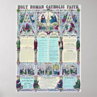 Poster Diagramme catholique saint d'Infographic de foi