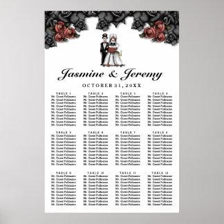 Poster Diagramme d'allocation des places de mariage