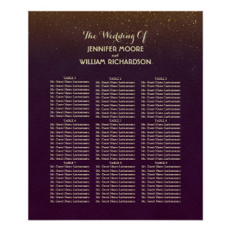Poster Diagramme d'allocation des places de mariage de