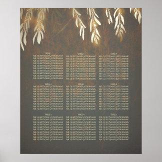 Poster Diagramme d'allocation des places de mariage d'or