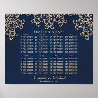 Poster Diagramme de places assises inspiré indien de