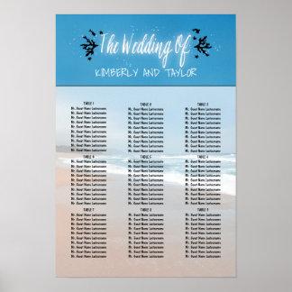 Poster Diagrammes d'allocation des places de mariage de