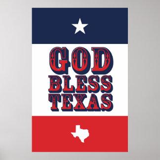Poster Dieu bénissent le Texas