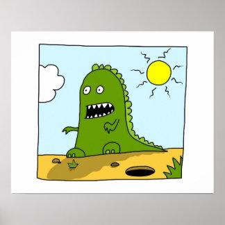 Poster Dinosaure chancelant
