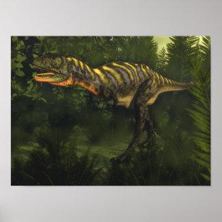Poster Dinosaure d'Aucasaurus - 3D rendent