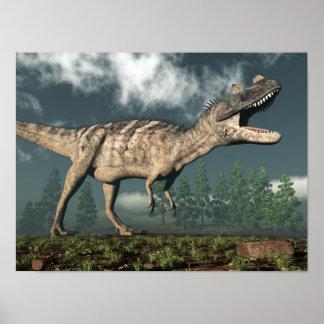 Poster Dinosaure de Ceratosaurus - 3D rendent