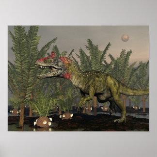 Poster Dinosaure de Cryolophosaurus - 3D rendent