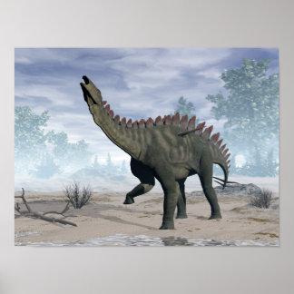 Poster Dinosaure de Miragaia - 3D rendent