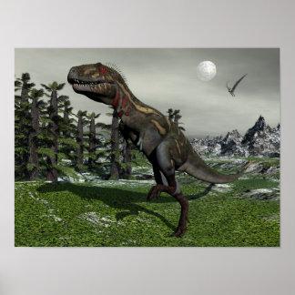 Poster Dinosaure de Nanotyrannus - 3D rendent