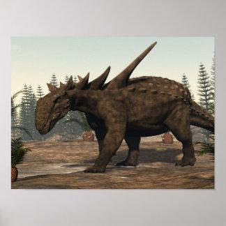 Poster Dinosaure de Sauropelta - 3D rendent