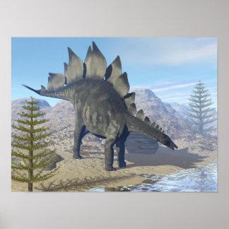 Poster Dinosaure de Stegosaurus - 3D rendent