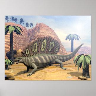Poster Dinosaure d'Edaphosaurus - 3D rendent
