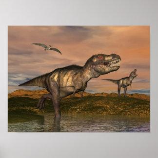 Poster Dinosaures de rex de Tyrannosaurus - 3D rendent