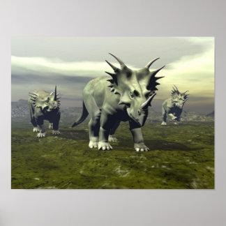 Poster Dinosaures de Styracosaurus - 3D rendent