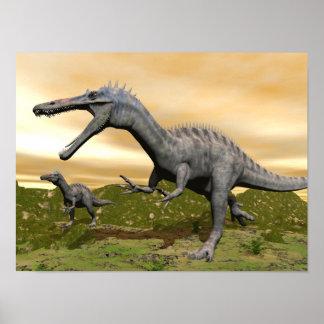 Poster Dinosaures de Suchomimus - 3D rendent
