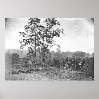 Poster DM d'Antietam enterrant les soldats confédérés