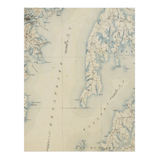 Poster DM vintage d'Annapolis et baie de chesapeake Map