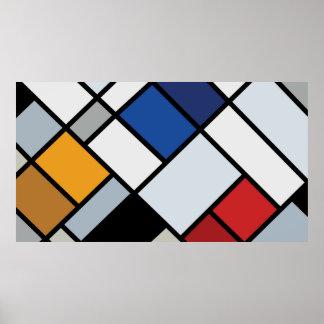 Poster Doesburg - Contre-Composition des dissonances