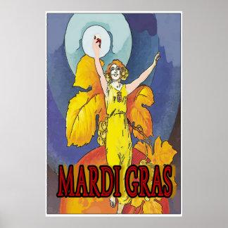 Poster Domestique de vin de mardi gras