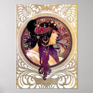 Poster Donna Orechini par Alphonse Mucha