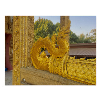 Poster ~ d'or Chiang Mai, Thaïlande de Naga