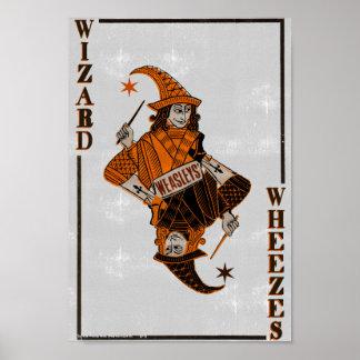 Poster Dos de la carte de Weasleys