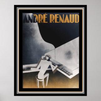 Poster Double affiche 16 x 20 de Deco de pianos d'André