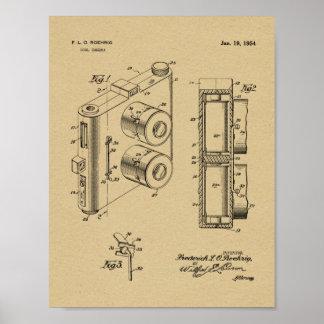 Poster Double copie de dessin d'art de brevet de