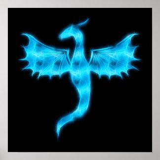 Poster Dragon bleu