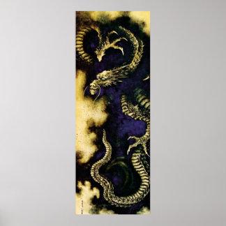 Poster Dragon brumeux
