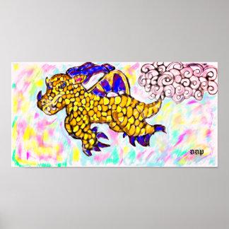 Poster dragon de vol