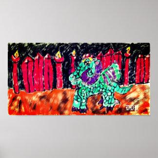 Poster Dragon et rubis