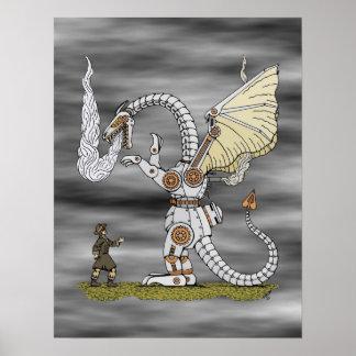 Poster Dragon mécanique