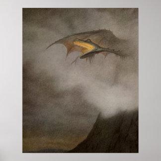 Poster Dragon sortant