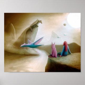 Poster Dragons de observation