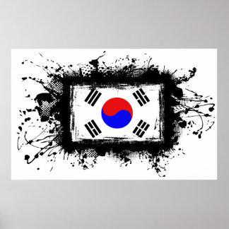 Poster Drapeau de la Corée