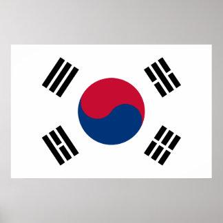 Poster Drapeau de la Corée du Sud