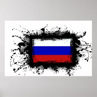 Poster Drapeau de la Russie