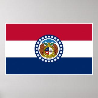Poster Drapeau d'état du Missouri