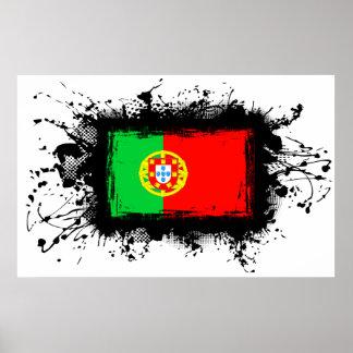 Poster Drapeau du Portugal